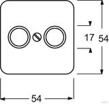 Busch-Jaeger Zentralscheibe alpinweiß (aws) für Antennendose 2Loch 2531-214