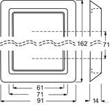Busch-Jaeger Abdeckrahmen alpinweiß (aws) 2102-34