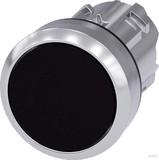 Siemens Drucktaster 22mm, rund, schwarz 3SU1050-0AB10-0AA0