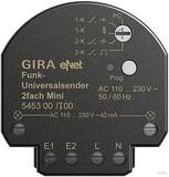 Gira 545300 Funk Universalsender Mini 2fach eNet
