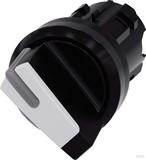 Siemens Knebelschalter 22mm, rund, schwarz 3SU1002-2BF60-0AA0