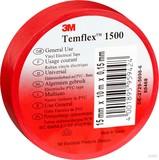 3M Elektroisolierband 15mm x10m rot TemFlex 1500 15x10rt