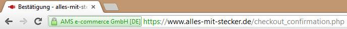 URL Zertifikat mit EV
